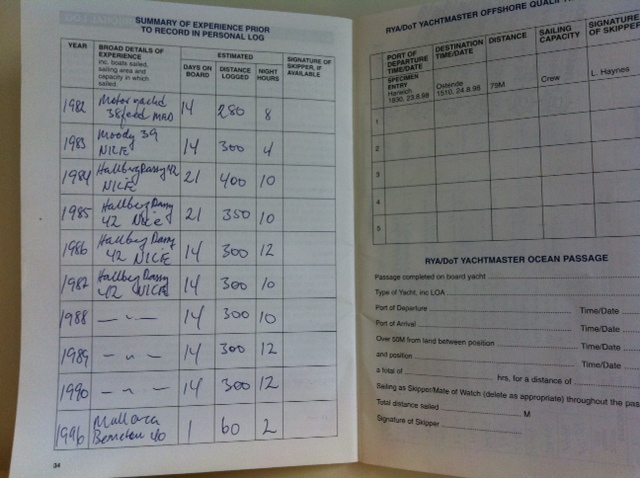 ship log book template
