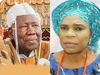 Photo: Olubadan, Oba Saliu Adetunji and his wife, Kudirat Aduke
