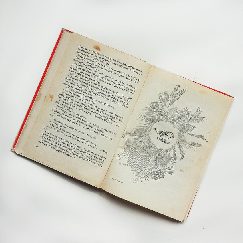"""Książka """"Najwyższa góra"""" Mieczysławy Buczkówny z 1988 roku, ilustracje: Andrzej Strumiłło."""
