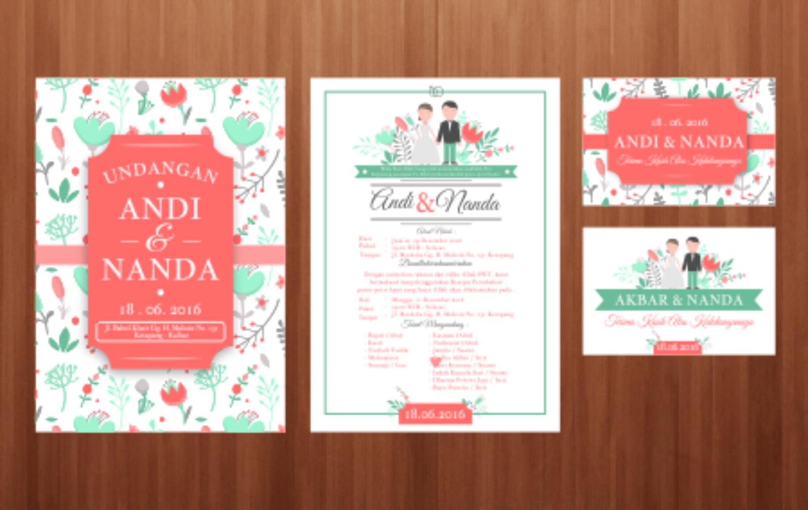 Desain Undangan Pernikahan Format Cdr Inspirasi Pernikahan