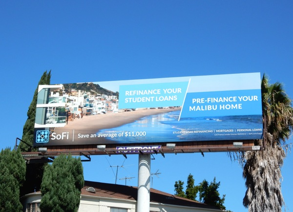 SoFi Prefinance your Malibu home billboard