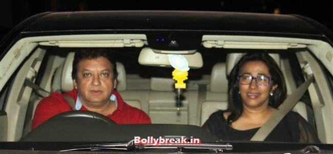 Shashi and Anu Ranjan, Bollywood celebs Clicked in their Cars at 2 States Special Screening