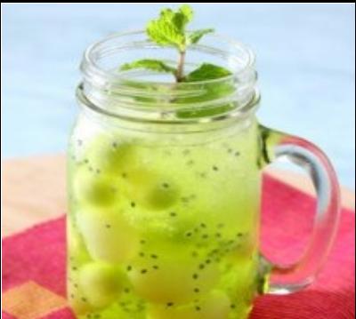 cara membuat minum es melon kelengkeng yang segar