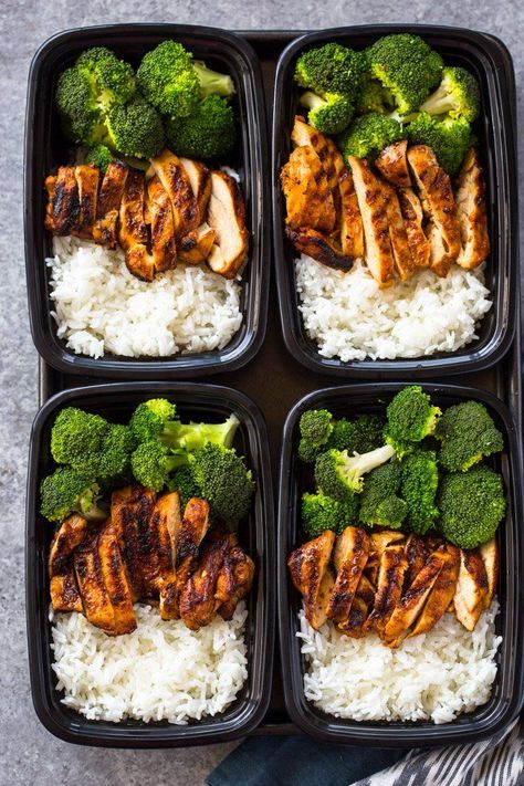 20 MINUTE MEAL-PREP CHICKEN, RICE AND BROCCOLI #mealprep #chicken #chickenrecipes #rice #broccoli #healthyrecipes #healthyfood