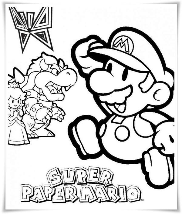 Ausmalbilder zum Ausdrucken: Ausmalbilder Mario