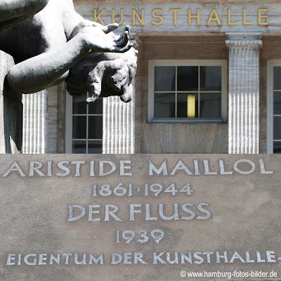 Statue der Fluss vor der Kunsthalle in Hamburg von Aristide Maillol