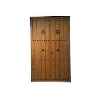 Puerta rustica Castilla de dos hojas