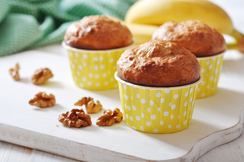 Bananowe muffiny- Są tak pyszne, że dzieci płaczą, czekając aż się upieką!