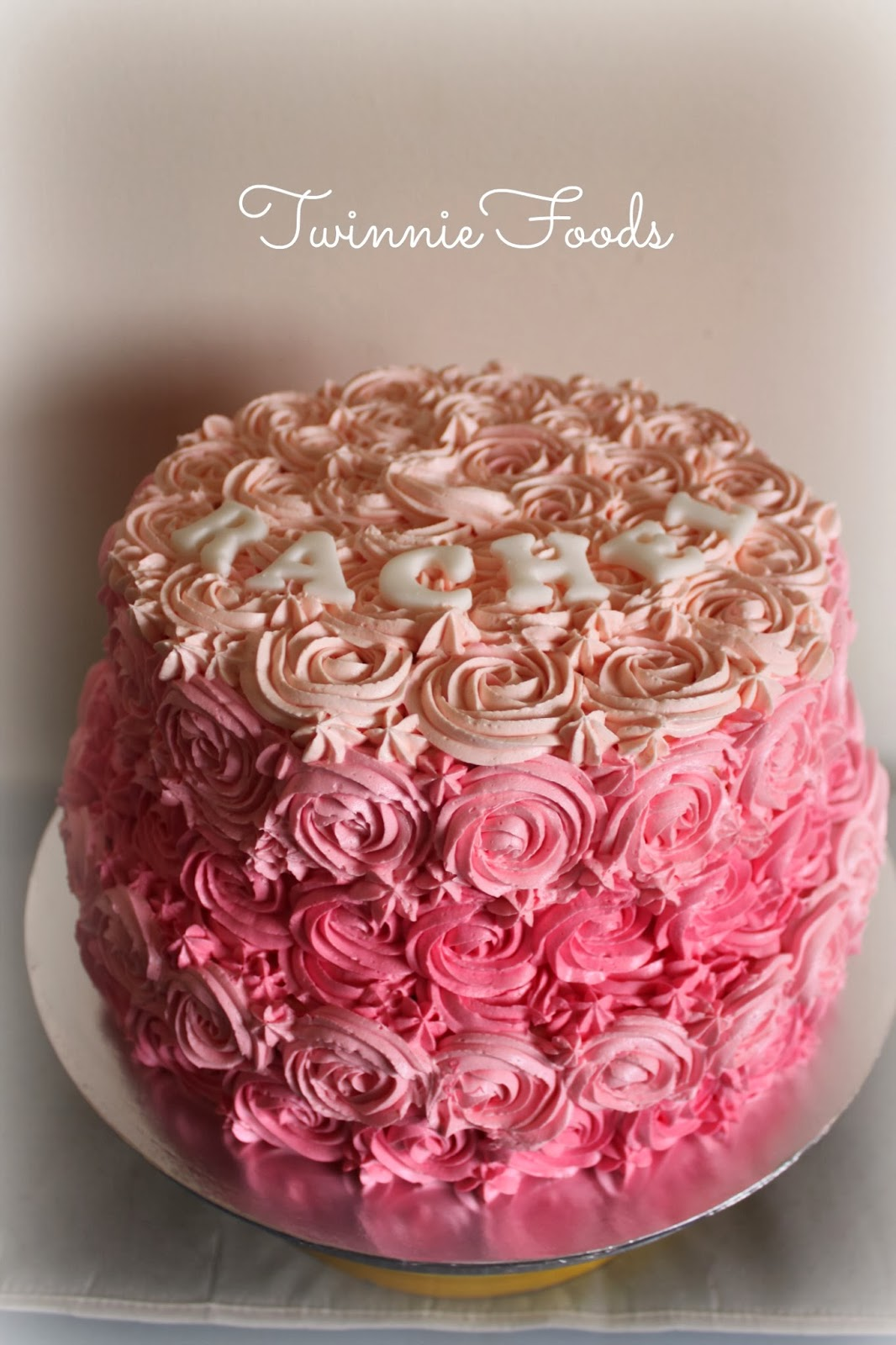 2 Tiered Pink Ombre Cake Twinniefoods