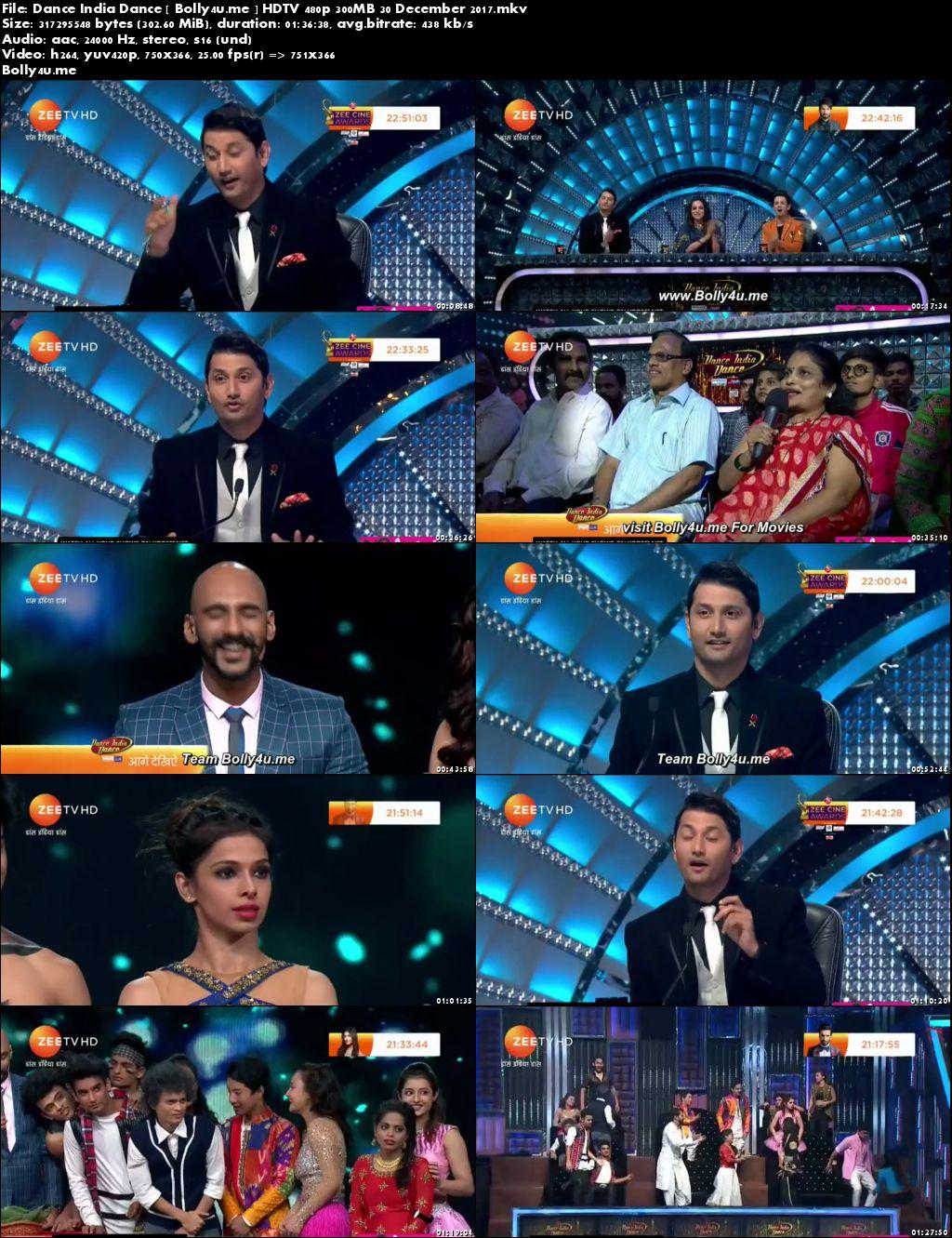 Dance India Dance HDTV 480p 300MB 30 Dec 2017 Download