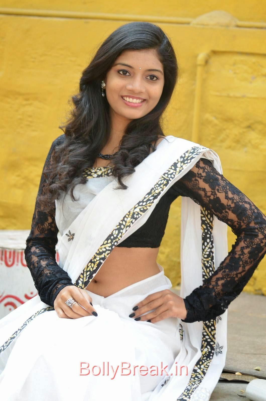 Bindu Pics, Bindhu Latest Hot Pics In White Saree