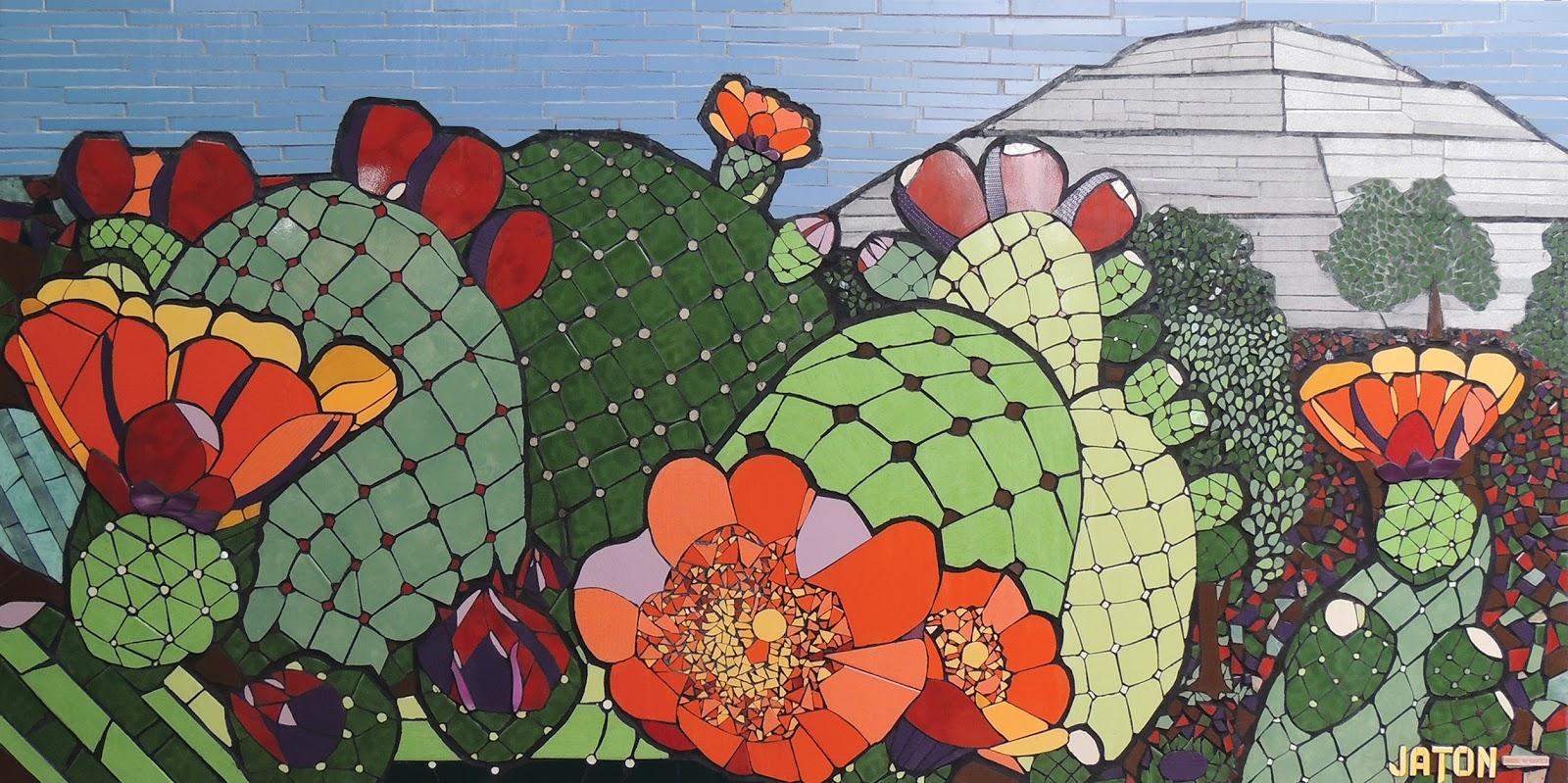 Mosaico creativo de fj mosaic art curso de muralismo en Papeles murales con diseno de paisajes
