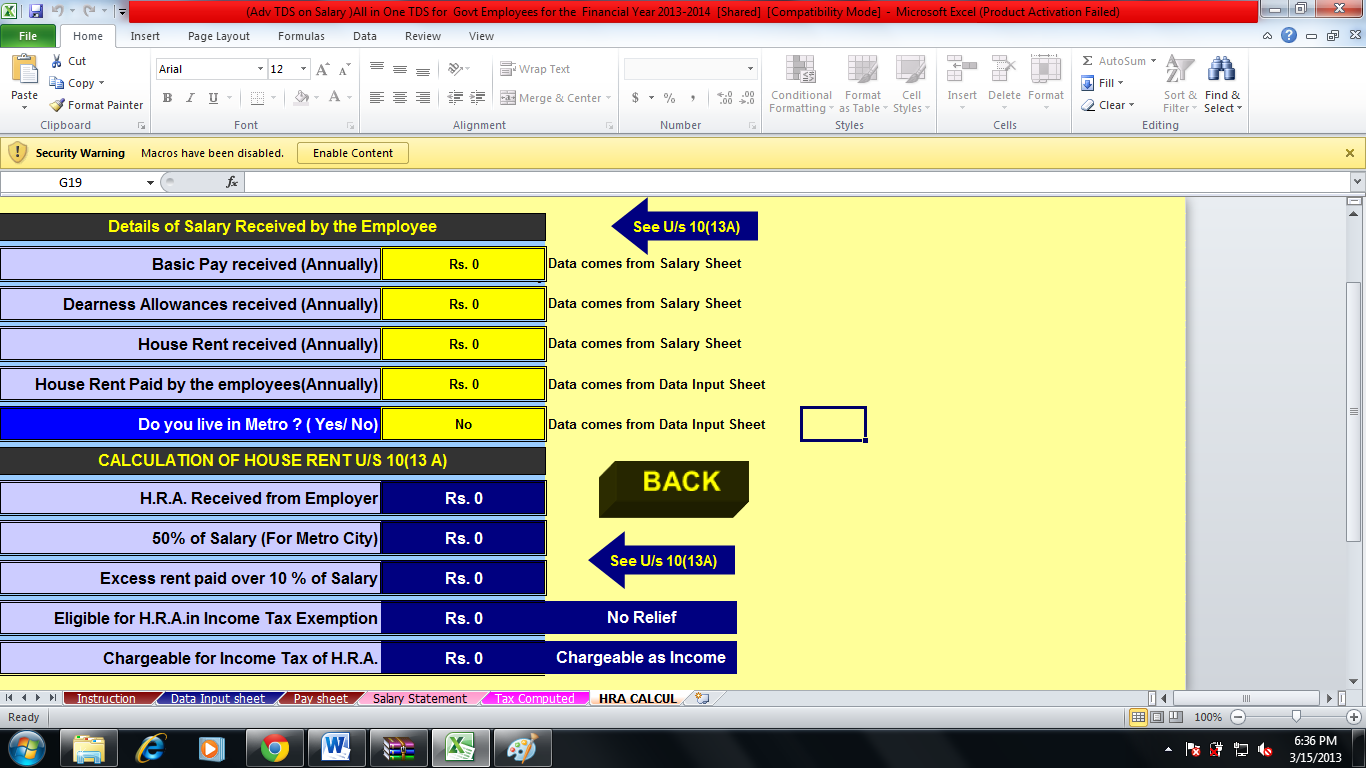 Income Tax Calculator For Financial Year 2013 14 And