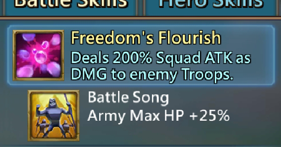 Hero Battle Skills