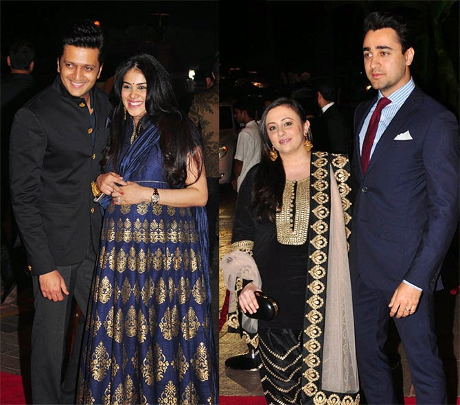 Ritesh Deshmukh, Genelia D'soza, Avantika and Imran Khan, Pics from Arpita-Ayush's Wedding reception
