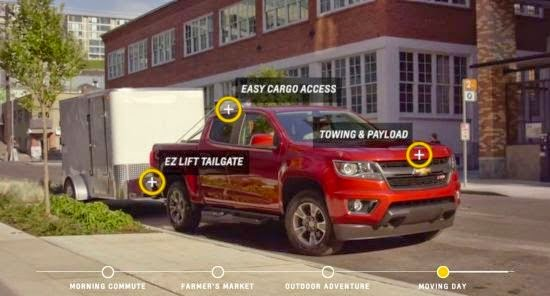 chevy introduces digital colorado experience. Black Bedroom Furniture Sets. Home Design Ideas