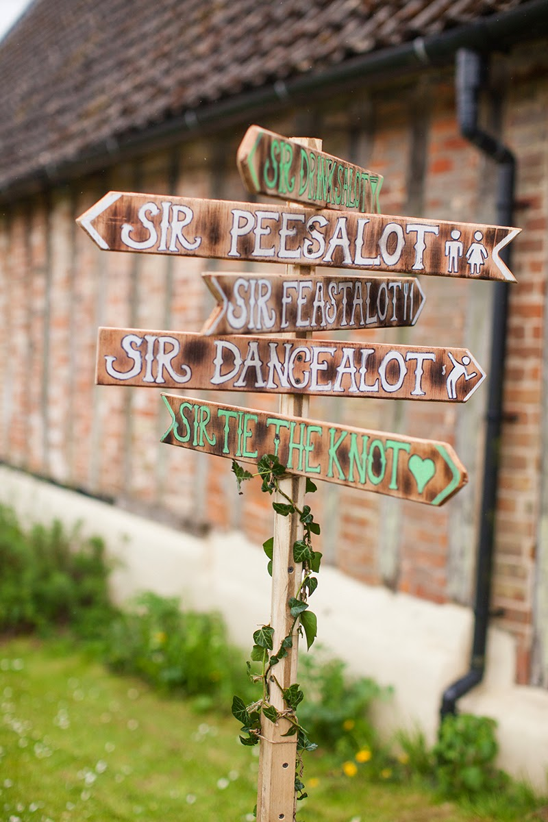handmade wedding signs