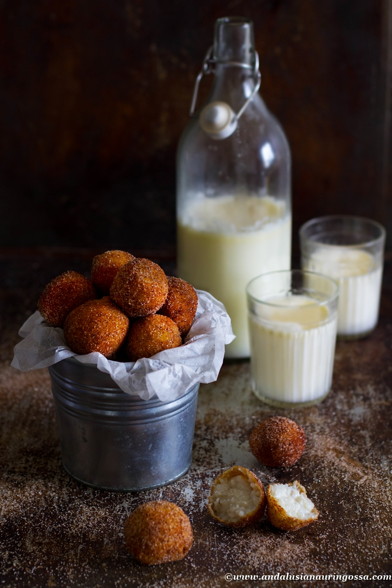 sweet rice pudding arancini