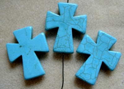 natural stone cross pendant