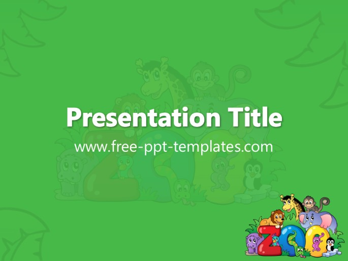 zoo ppt template, Modern powerpoint
