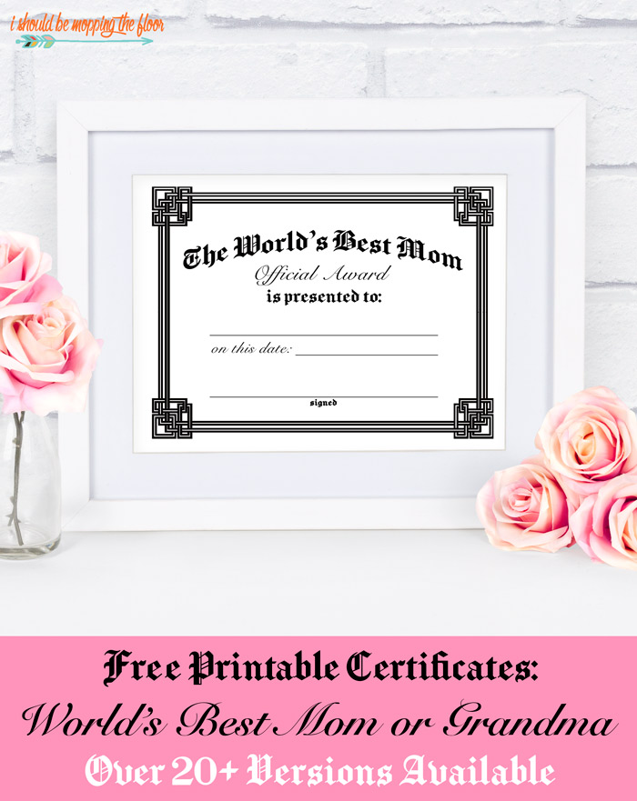 Mother's Day Certificate Printables