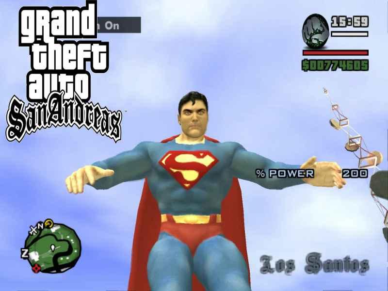gta san andreas superman mod download ocean of games
