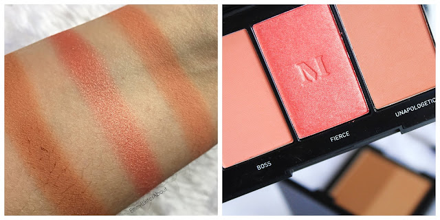 Morphe Blushing Babes Pop Of Coral Swatches