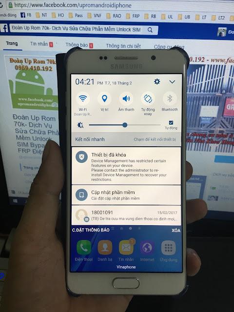 Toàn Quốc - Unlock sim S7 EDGE AU SCV33 xóa xác minh tài