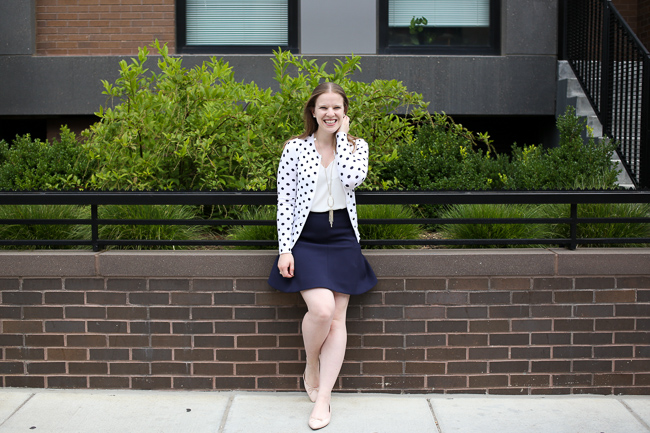 The Polka Dot Cardigan | Something Good, j.crew cardigan