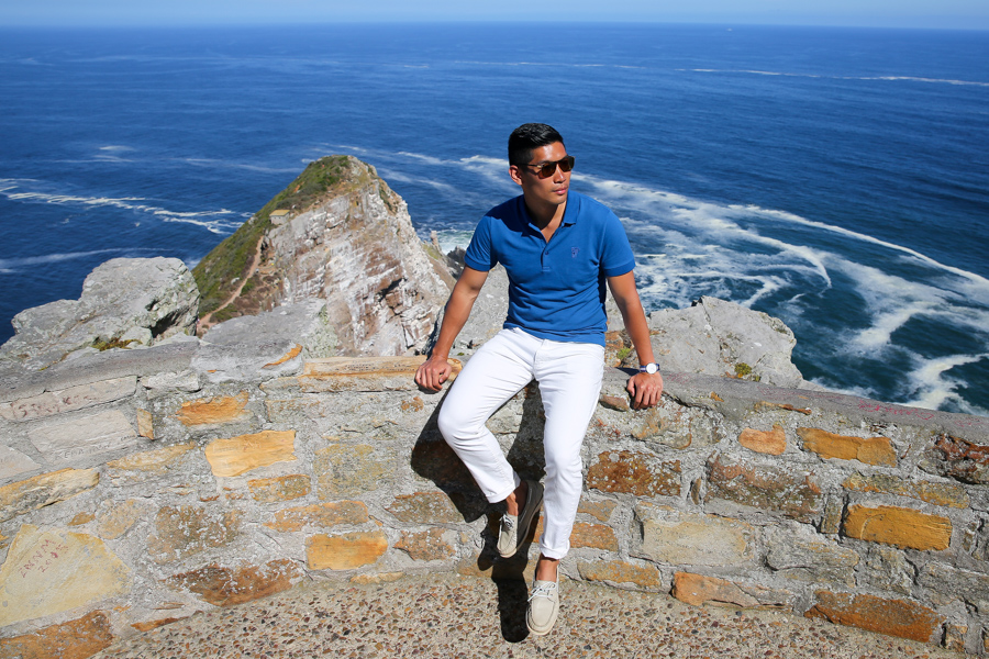 Cape Point, Versace Polo, Levitate Style, Travel, Menswear, Cape Town, Table Mountain, What to Wear