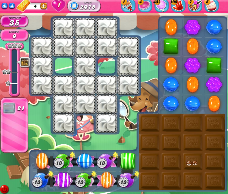 Candy Crush Saga level level2075