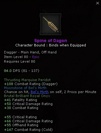 Assassin's Hideout: [Guide] crafting the Spine of Dagon dagger