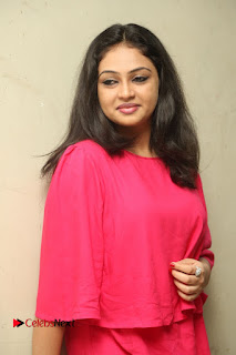 Actress Arundathi Nair Stills in Red Chididar at Bethaludu Success Meet  0049.JPG