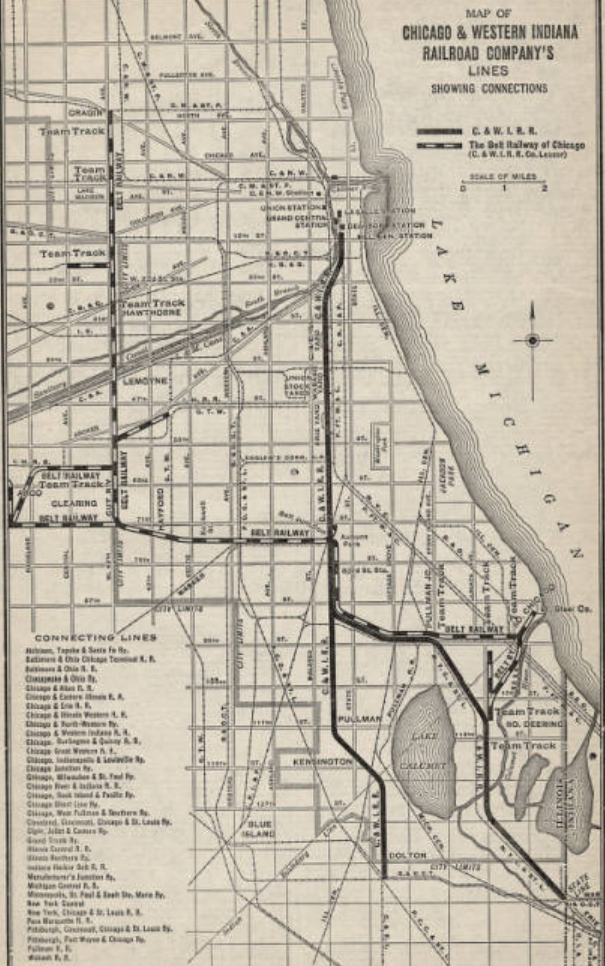 Industrial History: C&WI: Chicago & Western Indiana Railroad on indiana gas line maps, indiana breweries list, indiana industrial map, wayne county michigan zip code map, central of georgia map, indiana railroads 1950s, indiana utilities map, us 40 indiana map, monon indiana map, norfolk & western map, big indiana state map, cleveland rail map, indiana electrical lines, indiana ohio railway company, indiana truck map, indiana outline vector, indiana trains, minnesota commercial railway map, big pine creek indiana map, indiana interurban,