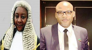 Biafra: I may withdraw from Nnamdi Kanu's case – Justice Nyako