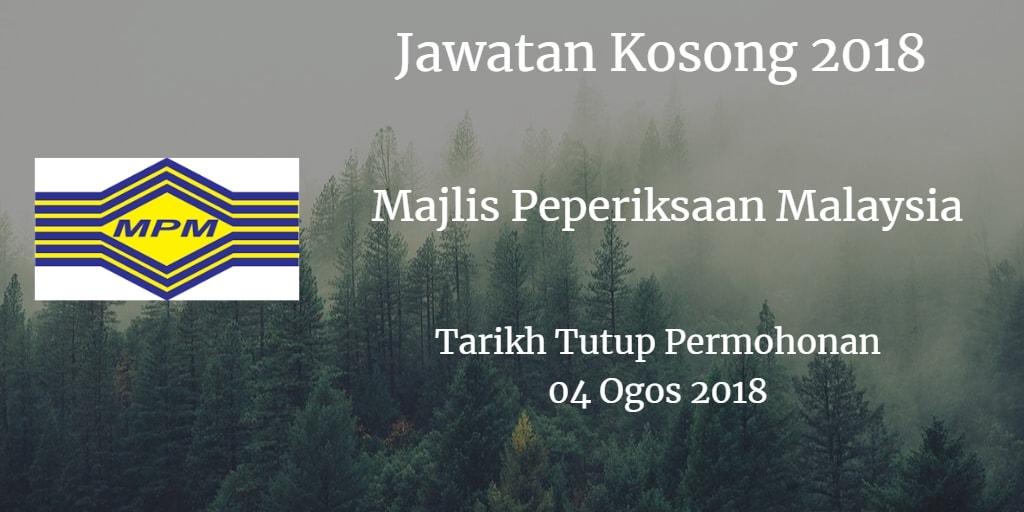 Jawatan Kosong MPM 04 Ogos 2018