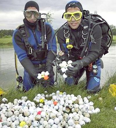 Mergulhadores de campo de golfe - Sorriso na Web