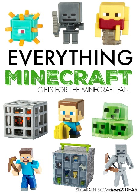 Everything you need for your minecraft fan this holiday season. use these minecraft ideas for gifts.