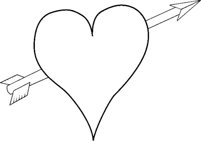 imagen de corazon para pintar