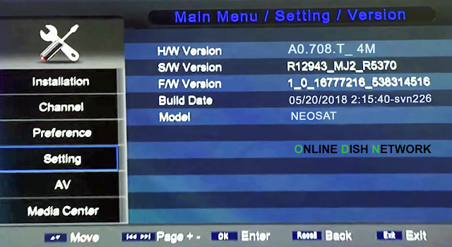 echqlink 777 HD Receiver version