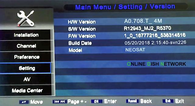 echqlink 777 HD Receiver version