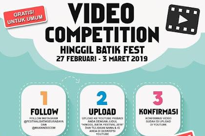 Lomba Video Competition Hinggil Batik Fest 2019 Umum