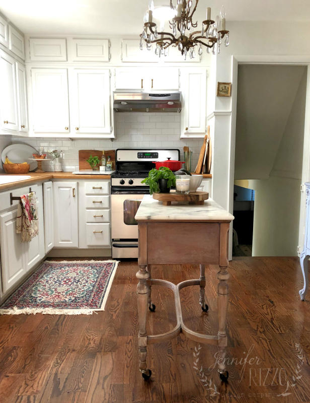 Using a sewing table as kitchen island