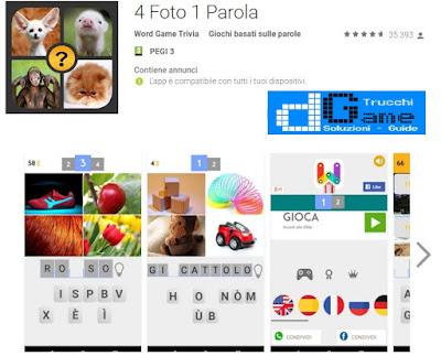 Soluzioni 4 Foto 1 Parola | Tutti i livelli risolti con screenshot soluzione