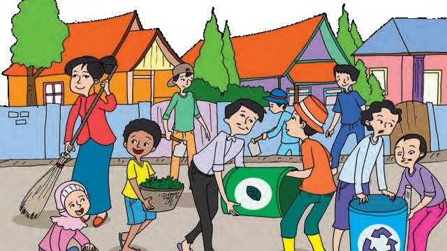 Gambar Kartun Kerja Bakti Di Lingkungan Cikimm Com