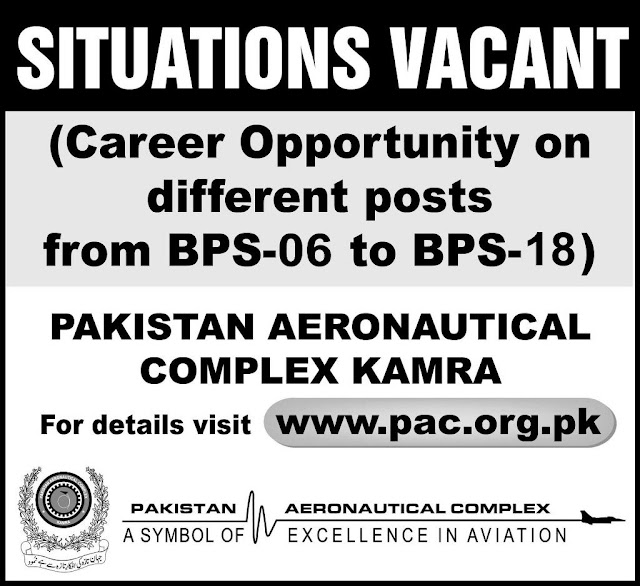 277 Government Jobs in Pakistan Aeronautical Complex Kamra