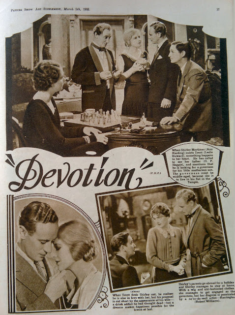 Picture Show, 1932: Leslie Howard in Devotion