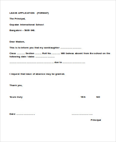 Annual Leave Application Form Template  Official Leave Application Format