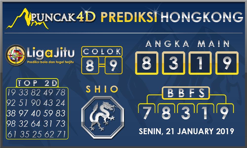 Prediksi Togel HONGKONG PUNCAK4D 21 JANUARY 2019