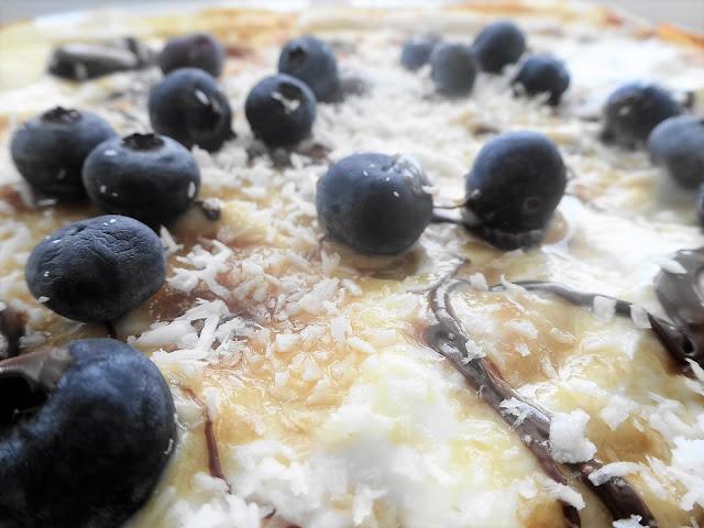 Dark Chocolate, Blueberry & Coconut Pancake Day Recipe